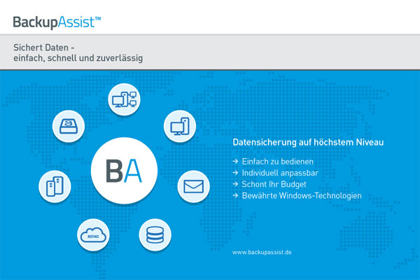 Datenblatt BackupAssist - Datensicherung auf höchstem Niveau