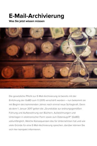 Infoblatt über rechtssichere E-Mail-Archivierung