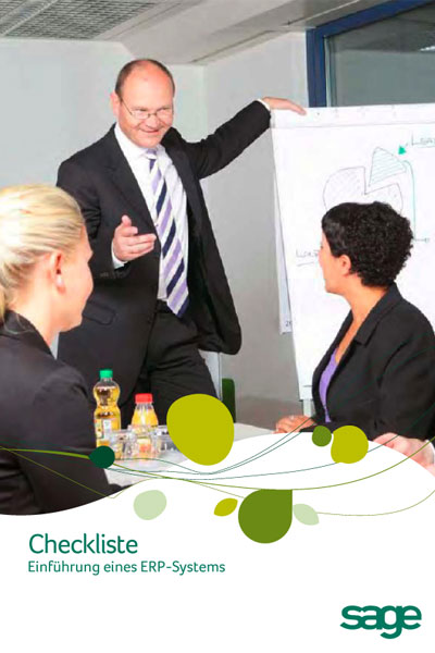 Checkliste zur Einführung eines ERP-Systems von sage