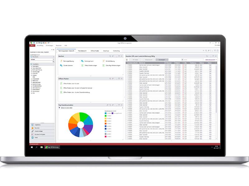 Sage 100cloud Plus: ERP Software Ansicht Modul Rechnungswesen