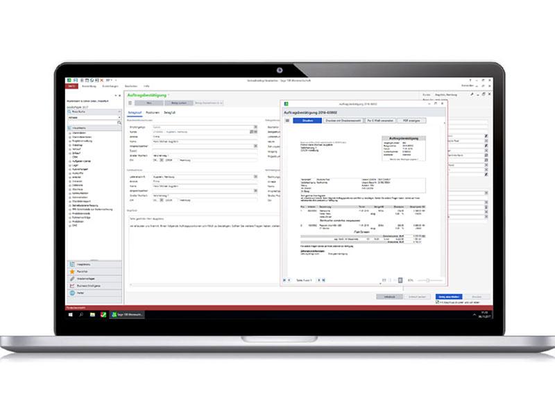 Sage 100cloud Plus: Arbeitsoberfläche ERP Software Sage Cloud Modul Warenwirtschaft