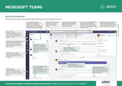 Homeoffice mit Microsoft Teams – eine Quick-Start-Anleitung