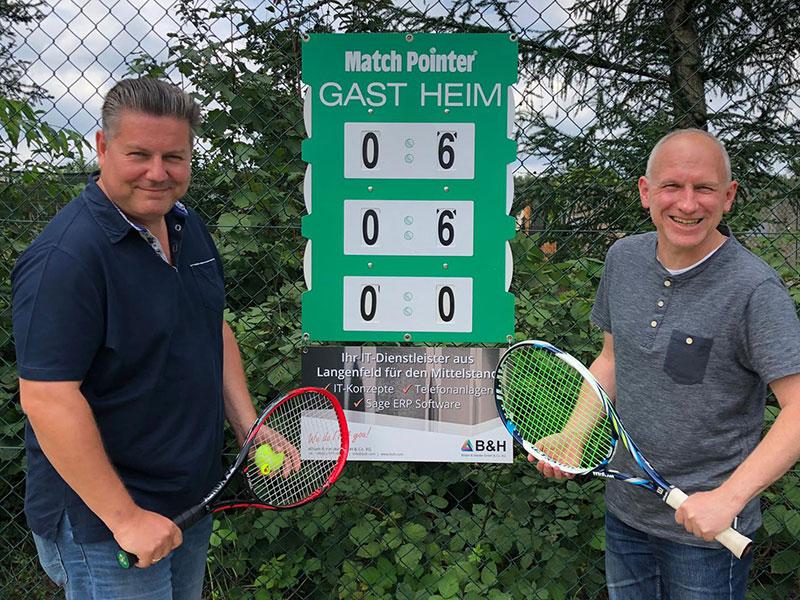 Sponsoring Tennisverein TC Johannesberg in Erkrath