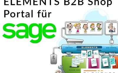 Sage 100 Erweiterung: ELEMENTS B2B Shop Portal