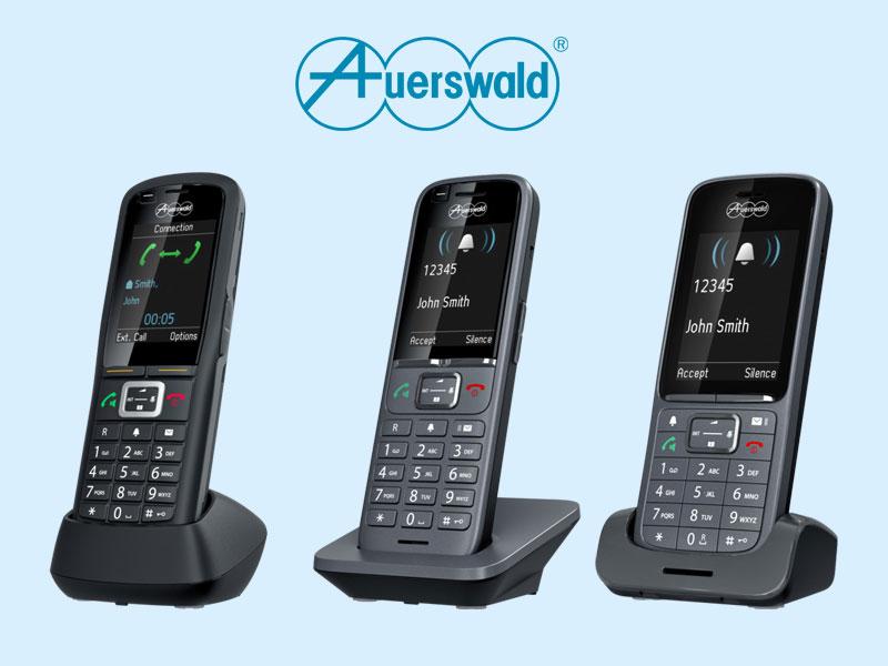 Ab Oktober verfügbar: Auerswald – neue Mobilteile bei IP Dect